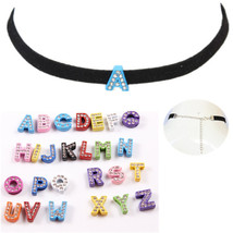 2017 New Fashion Custom Black Velevet Choker Letter Choker Necklace With Letters - $11.78