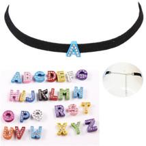 2017 New Fashion Custom Black Velevet Choker Letter Choker Necklace With... - $11.78