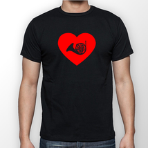 French Horn Heart T-Shirt--All Sizes-- - $15.00