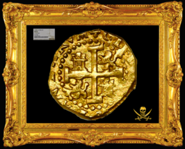 """Peru 1698 2 Escudos Ngc 62 Cuzco """"1715 Fleet"""" Shipwreck Gold Cob Doubloon Coin - $14,450.00"""