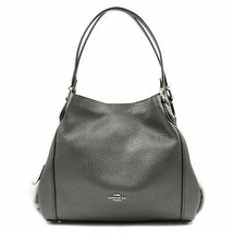 Coach Metallic Leather Graphite Women's Handbag Edie 31 87399 - $294.29