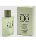 ACQUA Aqua Di Gio Giorgio Armani 3.4 EDT Fragrance Spray Men NIB Parfum ... - $46.73