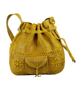 Moroccan Boho Bag Leather Tote Shoulder Bag, Handmade Satchel Moroccan Bag - $54.95
