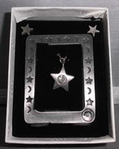 VTG NIB 3 & 1 Picture Frame, Earring, Necklace Set -Star Moon Rhinestone... - $19.80