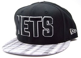 Brooklyn Nets New Era 9FIFTY Plaid Visor NBA Basketball Snapback Cap Hat - $20.85