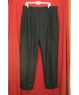 Nautica Mens Lead Grey Plaid Pleated Pant Slacks Trousers Cuff 38 32 Woo... - $25.64