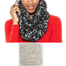 New CHARTER CLUB Grey Soft Cozy Eyelash Boucle Knit Infinity Scarf Women... - €8,26 EUR