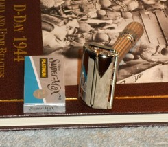 1961 Gillette Refurbished Re-Plated Fat Boy Adjustable Razor G1–22 - $125.00