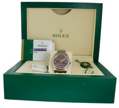 NEW Rolex Oyster Perpetual 39mm Purple Red Grape Stainless 114300 Mens Womens - $5,493.45