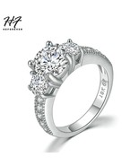 Wedding Rings For Women Classic Style Four Claw Round Cut Cubic Zirconia... - $9.83