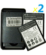 2 X replacement battery and Wall USB Charger for Samsung Galaxy S 3 III ... - $32.62