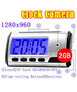 2GB HD Mini DVR Digital Alarm Clock Camera Recorder Security Hidden spy ... - $43.23