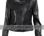 Black brando women leather jacket front thumb155 crop