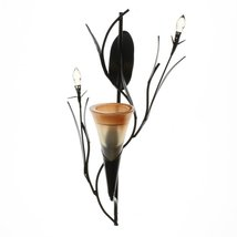 Wall Sconce Candle Holder, Modern Glass Flower Holder Wall Sconce Candles Holder image 3