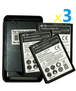 3 replacement battery and Wall Charger for Samsung Galaxy S 3 SCH-I535 S... - $35.70
