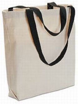 12 Blank TOTE BAGS Totes TEN COLOR HANDLES Crafts Bonanza