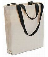 12 Blank TOTE BAGS Totes TEN COLOR HANDLES Crafts - $68.05