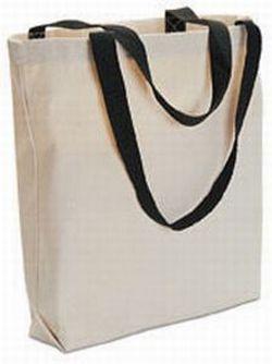 24 Blank TOTE BAGS Totes TEN COLOR HANDLES Crafts Bonanza