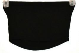 Boohoo Women's Black Crop Tube Boob Top Size 2 image 2
