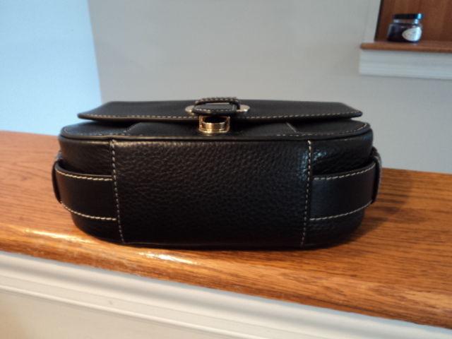 d13067c50237c0 Authentic Michael Kors Romy Medium Messenger Crossbody Bag Leather Black NWT