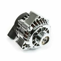 GM CS130D Style High Output 180 Amp Alternator For Chevrolet SBC V8 Chrome