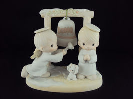 Precious Moments, 525898, Ring Those Christmas Bells, Issued 1992, Retired 1996 - $79.95