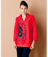 """Lilly Pulitzer """"Ciara"""" Red Tomato Floral Print Tunic XS NWT - $88.11"""