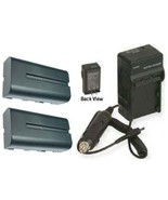 2 Batteries +Charger for Sony HDR-FX1 FX1E FX1000 FX7 HVR-HD1000 HD1000U... - $35.92