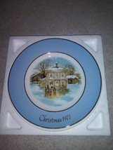 Vintage 1977 Avon Christmas Collector Plates ~ Carolers in the Snow w/ Box - $5.69