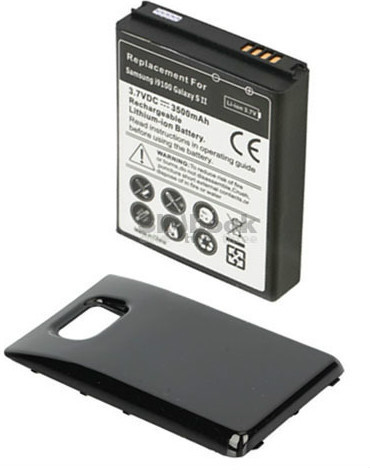 Primary image for Extended Battery replacement with back Cover for Samsung Galaxy s II 2 i9100 new