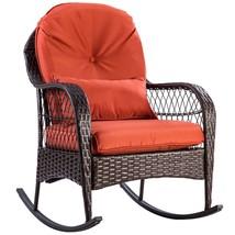 Outdoor Wicker Rocking Chair w/ Cushion - $169.94