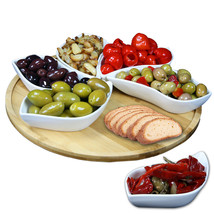 Elama Signature Modern 13.5 Inch 7pc Lazy Susan Appetizer and Condiment ... - $44.51