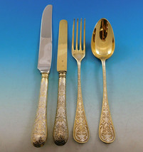 French Sterling Silver Flatware Set Service 97 pcs Dinner Acid Etched Weddell - $11,500.00