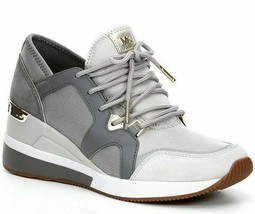 Michael Kors Liv Trainer Fashion Sneakers Aluminum Size 5.5 - $108.89