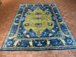 8 X 11 Hand Knotted Yellow Bamboo Silk Oriental Rug G3094 - $1,872.20