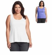 Relativity Knit Tank Top Cotton Sleeveless Purple Womens Size 2X Classic - $9.99