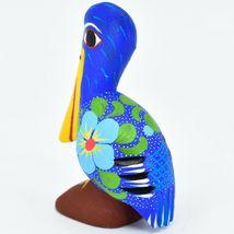 Handmade Alebrijes Oaxacan Copal Wood Carving Painted Folk Art Pelican Bird image 3