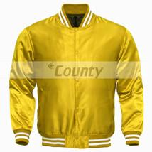 Letterman Baseball College Varsity Bomber Super Jacket Sports Wear Yello... - $49.98+