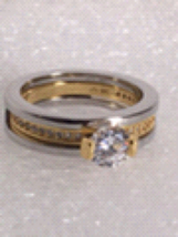 WOMENS 18KT GP RING SIZE 7   NEW WITHOUT TAG  - $25.00