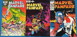 MARVEL FANFARE lot of (3) issues #2 #3 #18 (1982-1985) Marvel Comics X-MEN FINE - $9.89