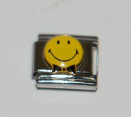 Casa Doro 9133 Smiley Face Elegant Charm Link Stainless Steel