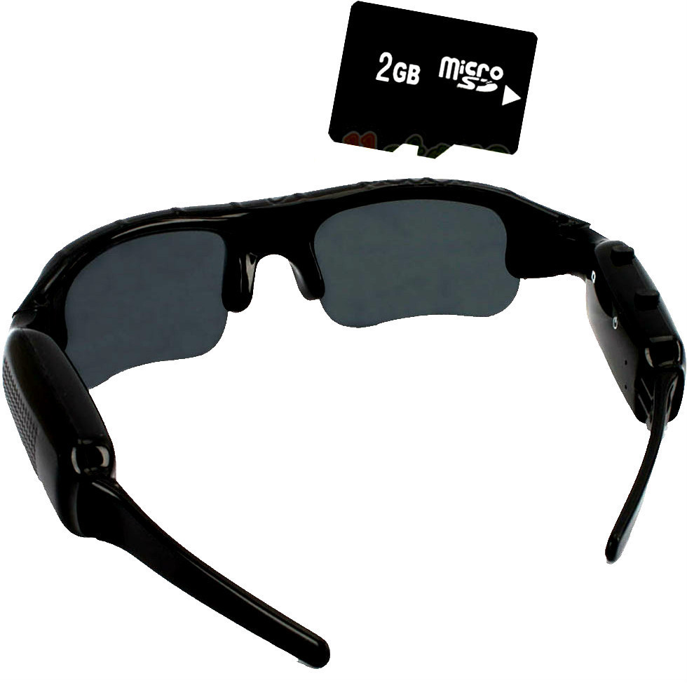 Primary image for sun glasses with hidden mini secret spy security camera video recorder 2g memory