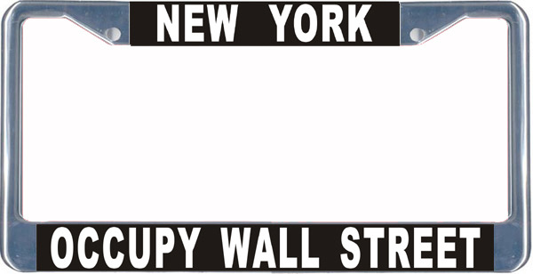 Primary image for Occupt Wall Street License Plate Frame (Stainless Steel)