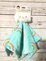 Blankets & Beyond Rainbows SOFT Cloud Aqua Security Blanket Nunu Lovey T... - $18.99