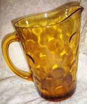 Anchor Hocking Gold Bubble Pitcher - $10.99