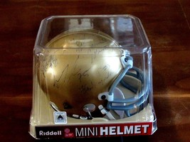 NOTRE DAME FOOTBALL LATTNER RICE MIRER HARSHMAN (12) SIGNED AUTO MINI HE... - $296.99
