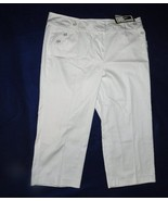 Larry Levine Womens Size 16 White Stretch Capris  NWT - $13.99