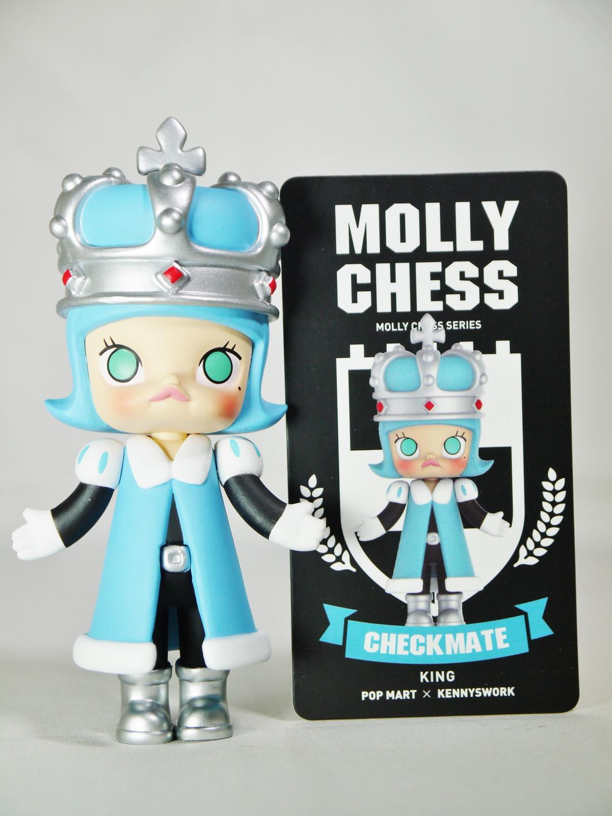 POP MART Kennyswork BLOCK Little Molly Chess Club Chessmate KING Blue