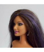 Swappin Styles Fashionista Barbie Doll Purple Streaked Hair Smiling Face - $29.69