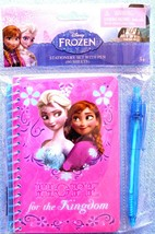 Disney Frozen Elsa Anna Hope for the Kingdom Spiral 60 Page Notebook & Pen-New - $7.32